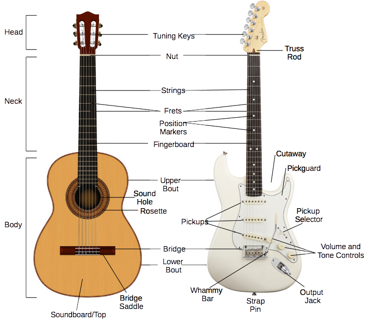 parts of the guitar fusionharmony. Black Bedroom Furniture Sets. Home Design Ideas